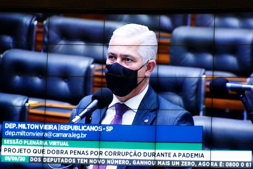 Milton Vieira vota sim ao Projeto que dobra penas por corrupção durante pandemia 8